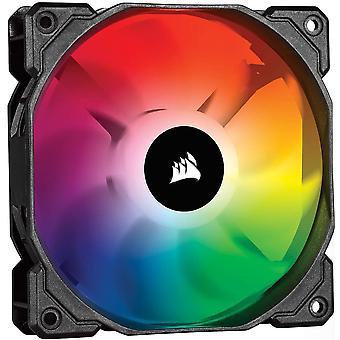 قرصان icue sp120 rgb pro، rgb led، منخفض الضوضاء، تدفق الهواء عالية، مروحة تبريد حالة (حزمة واحدة)، 120 مم