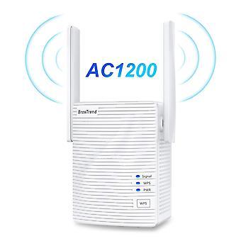 Brostrend ac1200 wifi booster range extender, laajenna kaksikaistainen wifi 5ghz & 2.4ghz, 1200mbps wirel