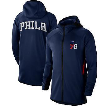 Philadelphia 76ers Showtime Performance Raglan Full Hoodie Top WY133