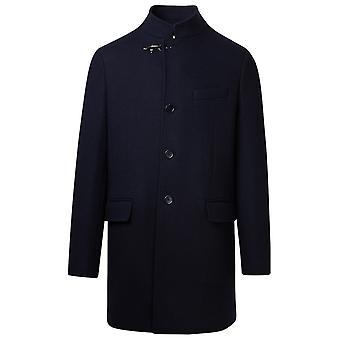 Fay Nam5441061jsei1910 Men's Blue Wool Coat