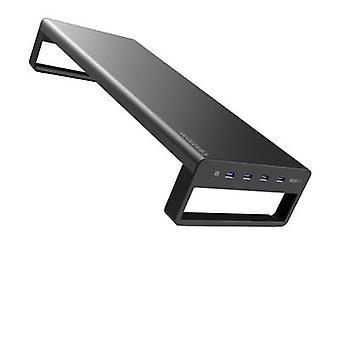 Usb 3.0 Aluminium Monitor Stand Metal Riser Support Overførsel data og