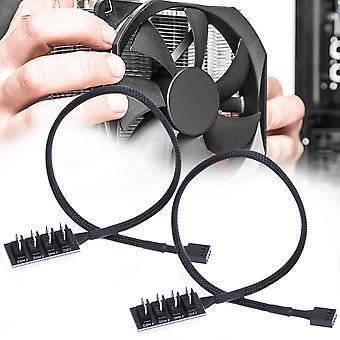 2 PCS-tietokoneen tuuletin PWM Hub -tietokoneen alustatuuletin keskitin (A Vedä neljä)