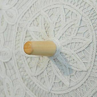 blonder håndverket paraply bomull dekorasjon bryllup fotografering rekvisitter broderi