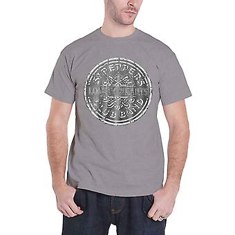 The Beatles T Shirt Sgt Pepper Drum Band Logo Official Unisex Burnout slim fit