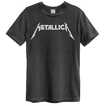 T-shirt logo Metallica amplifié