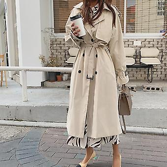 المرأة & apos;ق المعاطف خندق طويل, Windbreaker الحجم الكبير, معطف الإناث والسترات