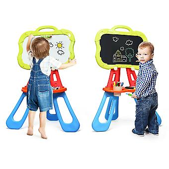Kids Double Sided Chalkboard & Whiteboard Portable Magnetic Painting Art Easel