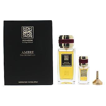 Signature Sillage D'Orient Ambre Eau de Parfum 100ml & EDP 15ml Gift Set