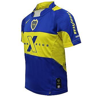 نايكي بويز بوكا جونيورز تي شيرت التدريب الرياضة أعلى الأزرق الأصفر 496903 493