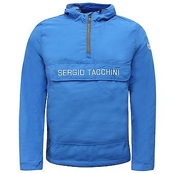 Sergio Tacchini inn i Anorakk halv zip up menns frakk jakke blå 37750 274 A53A