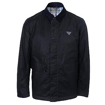 Barbour beacon men's navy broad wax jacket
