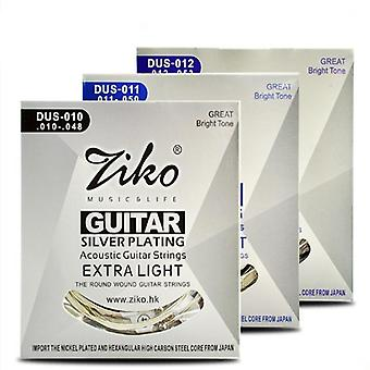 Acoustic Guitar Silver Plating 6 Strings