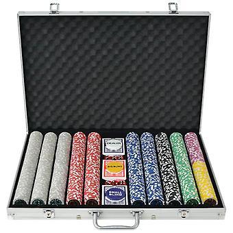 Poker Set with 1,000 Laser Chips Aluminum
