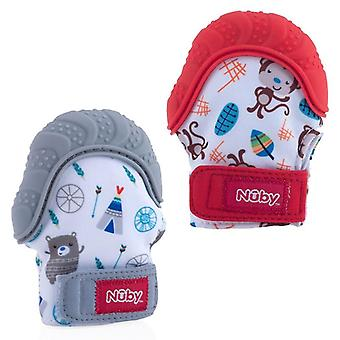 Nuby teething mitt 2 mitts supplied