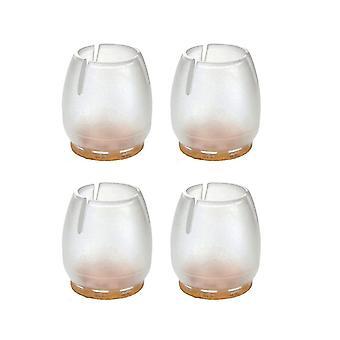 Bouchon de chaise transparent avec feutre 12 - 16 mm (poche 4 pièces) (1 pièce)