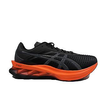 Asics Novablast Black/Marigold Orange Mesh Mens Lace Up Running Trainers