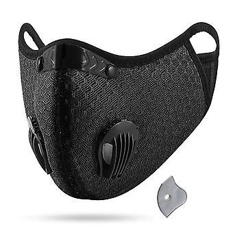Obličejová maska kola s aktivním uhlím z filtru