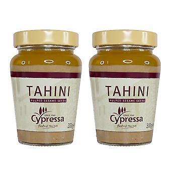 2 x 300g Cypressa Tahini Pasta Pulped Sesamzaad Spread Hummus Food Sauce