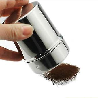 Rustfritt stål Dryss kakao kanel sukker gasbind mesh krukke