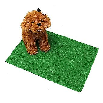 Pet Dog And Cat Artificial Grass Toilet Mat Indoor Potty Trainer Grass Turf Pad