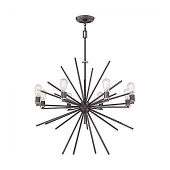 Lámpara Colgante Carnegie, Bronce, 8 Bombillas