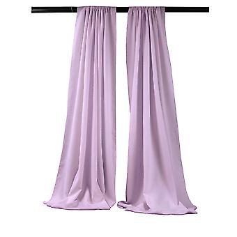 La Linen Pack-2 Polyester Poplin Backdrop Drape 96-Inch Wide By 58-Inch High, Lilac