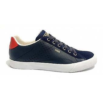 Shoes Munich Sneaker Godò Leather Color Navy Blue/ Red Men U20mu16