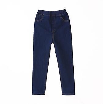 Children Solid Slim Thin Denim Jeans - Long Trousers