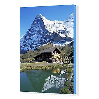 De Eiger, Kleine Scheidegg. Afdrukken van vakcanvas. De Eiger, Kleine Scheidegg, Berner Oberland,.