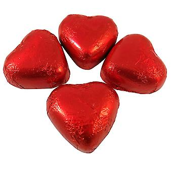 Kingsway Valentine Red Foiled Milk Chocolate Hearts 500g