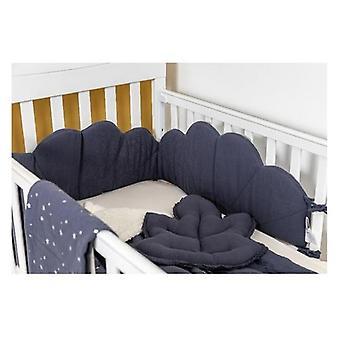 الأزرق تيترا موسلين غروب الشمس القطن سرير الوفير