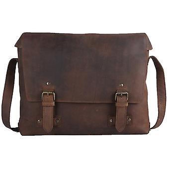 Ashwood Leather Memphis Lage Messenger Bag - Tan