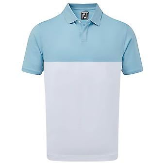 Footjoy Mens Stretch Lisle Simple Block Wicking Stretch Polo Shirt