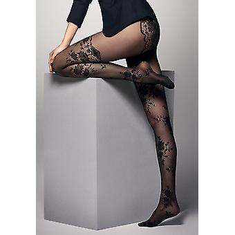 Priscilla 20den Tights With Elegant Pattern