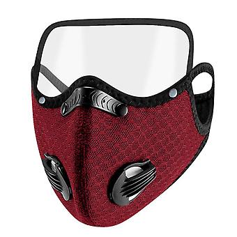 Facemask Reusable With Eye Shield, Face-mask For Germ Protection
