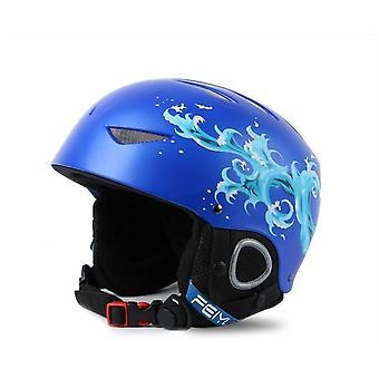 Casco de snowboard ajustable moldeado integralmente