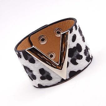 Mode Leopard Leder armband