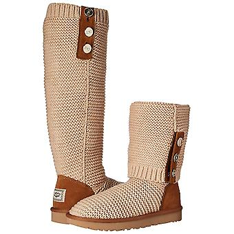 Ugg Australia Women's Shoes Purl Cardy Knit Fabric Closed Toe Mid-Calf Cold Weather Boots
