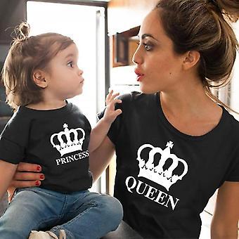 Princess Family Matching Vaatteet, Vauvan puuvilla t-paita