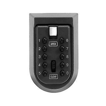 Avain tallelokero alumiiniseos seinä asennettu kodin turvallisuus salasana turvalukko säilytyslaatikot koodilla