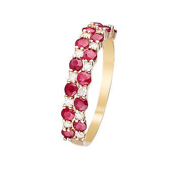 Anello 'Princess Grace Ruby' Oro Giallo e Diamanti
