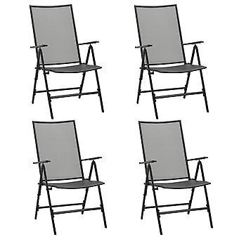 vidaXL Folding Chairs 4 pcs. Mesh Steel Anthracite