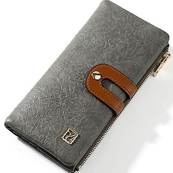 Multifunctional two-fold long wallet, large capacity ladies clutch