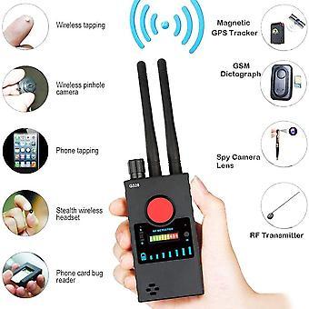 Detector anti spy cámara para cámara oculta láser GSM lente escuchar dispositivo inalámbrico investigador rf pushpin detector de señal radar radio escáner alarma inalámbrica (negro)