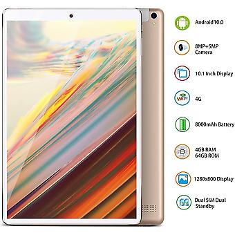 FengChun Tablet Android 10.0 Tablet 10 Zoll 4G LTE 4GB RAM 64GB ROM Tablet PC Quad-Core 8000mAh
