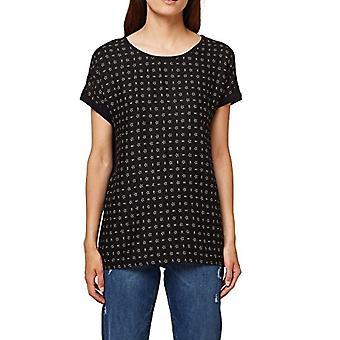 ESPRIT 078ee1k024 T-Shirt, Veelkleurig (Zwart 001), Kleine Vrouw