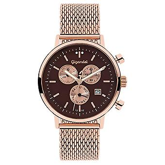 Gigandet G6 - 015 - Klocka, rostfritt stålband i rosa guldfärg