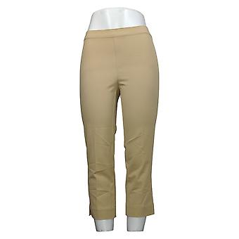 Isaac Mizrahi Live! Damen Hose Stretch Pull-On Crop Beige A251351