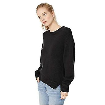 Marca - Daily Ritual Women's 100% Cotton Chunky Long-Sleeve Crew Pullover Sweater