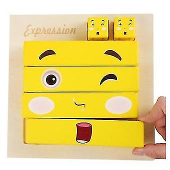 Large Face-changing Rubik's Cube Building Block Puzzle Parent-child Wooden Challenge Level Toy